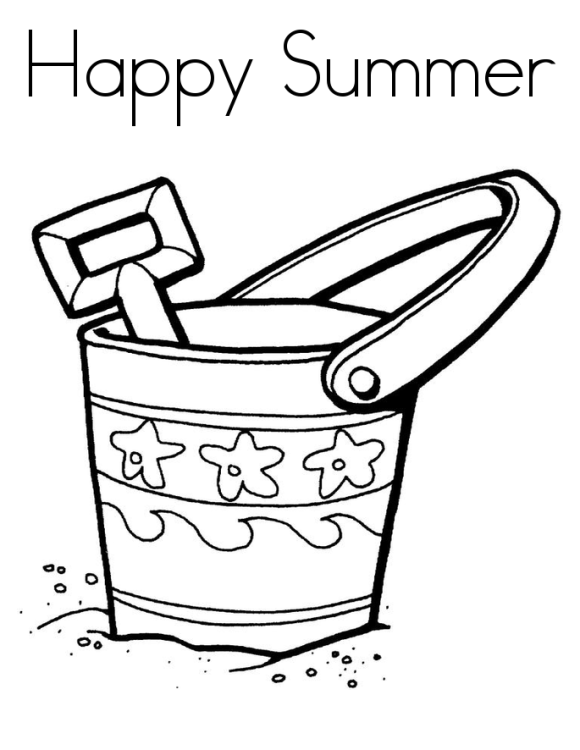 580x750 Summer Holiday Coloring Pages Printable For Preschoolers Season