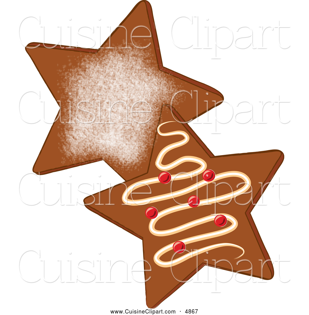 1024x1044 Cuisine Clipart Of Star Shaped Gingerbread Christmas Cookies