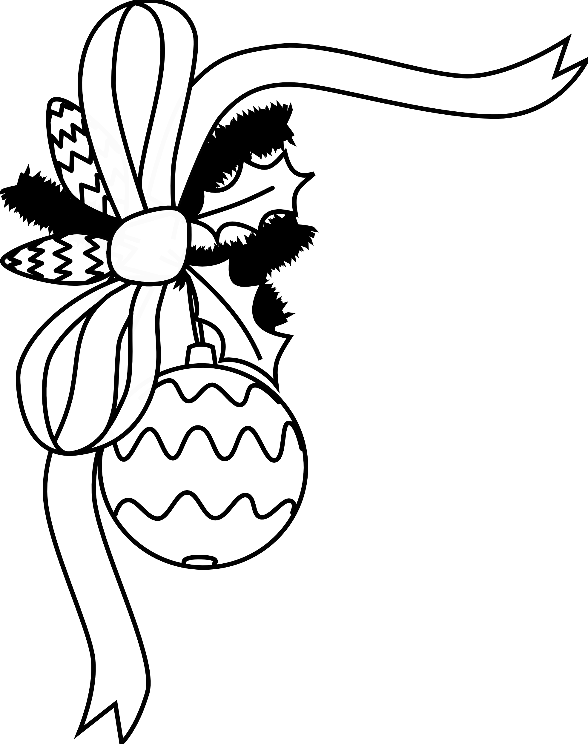 1969x2492 Holiday Coloring Clip Art