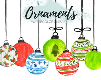 340x270 Purple Christmas Ornament Clip Art Hand Painted Clip Art