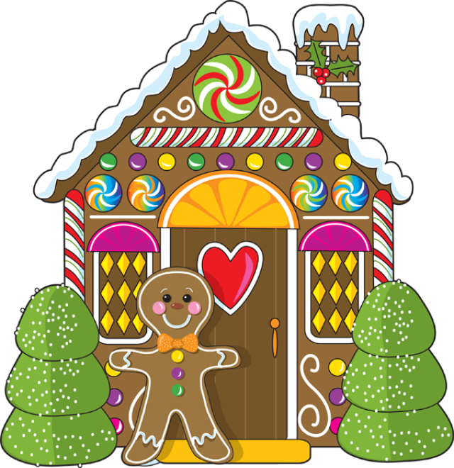 640x660 Christmas Clip Art For The Holiday Season Gingerbread House