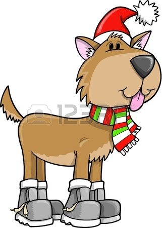 321x450 Christmas Holiday Puppy Vector Illustration Royalty Free Cliparts