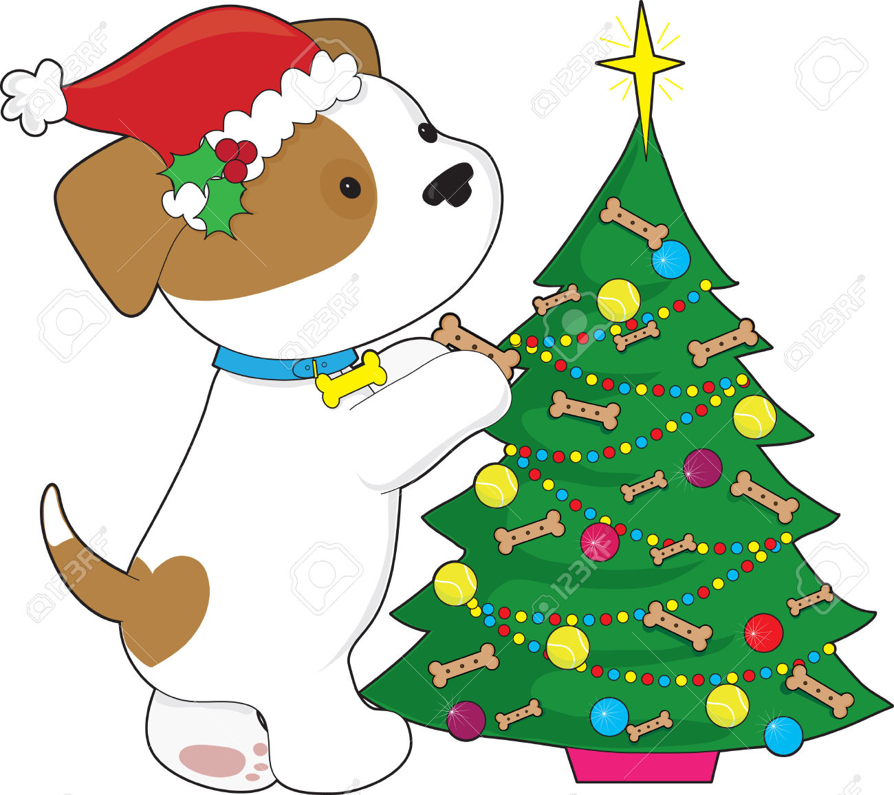 1300x1156 Dog Christmas Tree Clipart