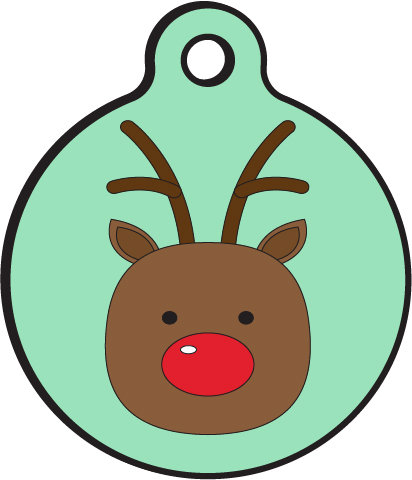 412x480 Holiday Reindeer