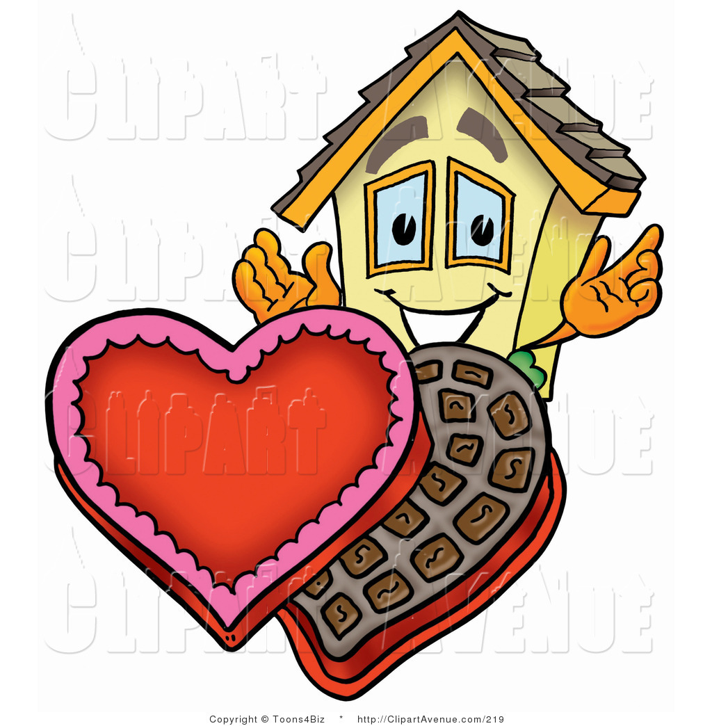 1024x1044 Avenue Clipart Of A Home Mascot Cartoon Character With An Open Box