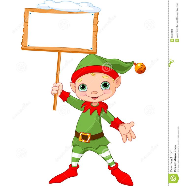 Holiday Elf Clipart
