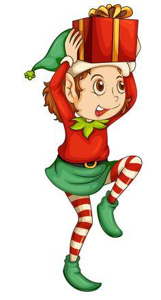 236x438 Christmas Elves Duendes!!! Elves, Clip Art