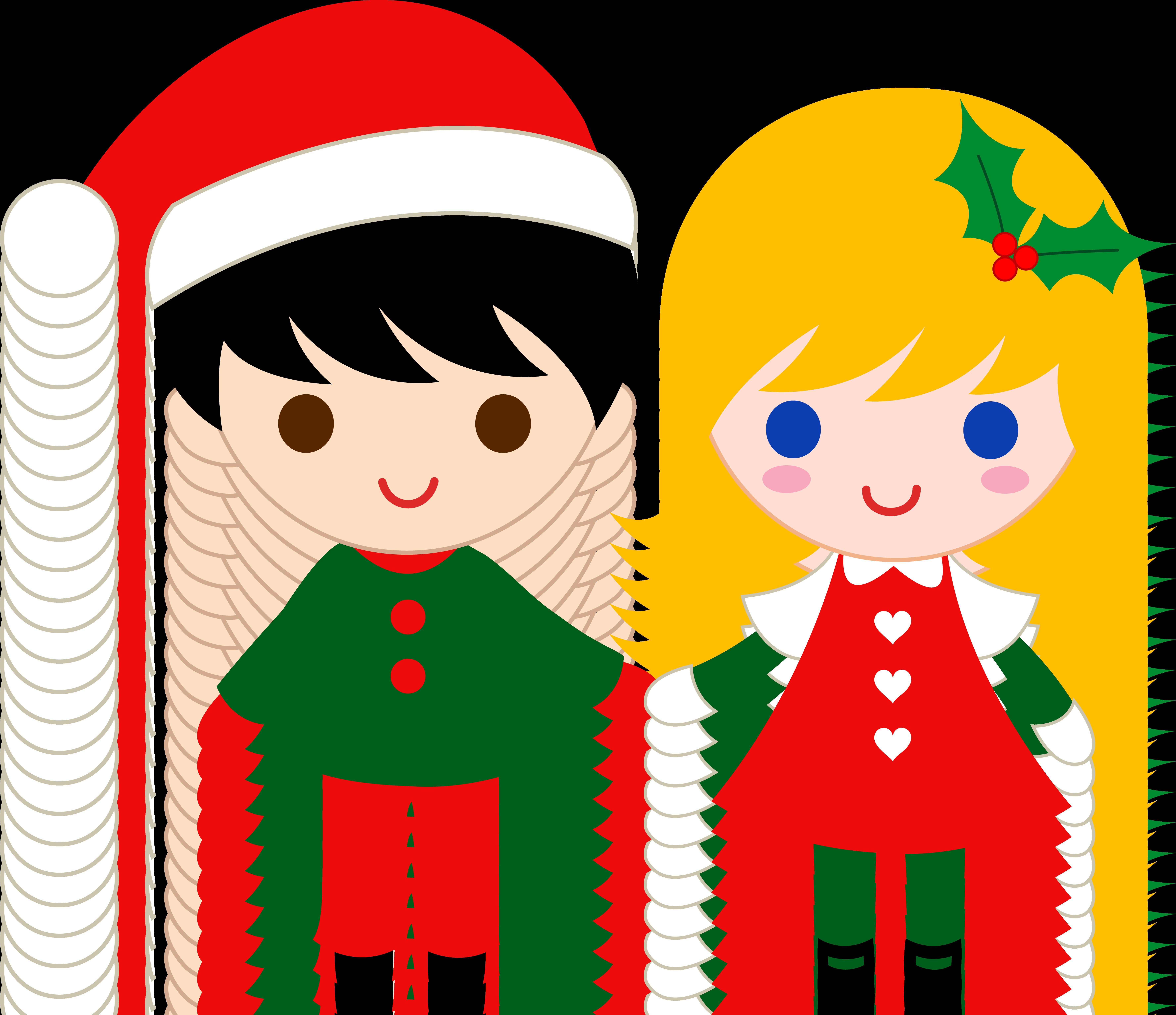 7105x6130 Cute Christmas Kids Clip Art