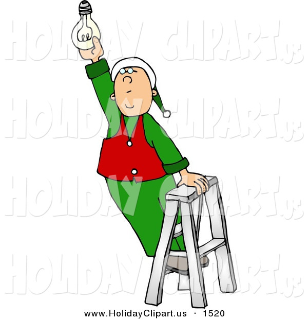 600x620 Elf Holiday Clipart