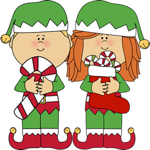 300x300 Elf Clipart Candy Cane