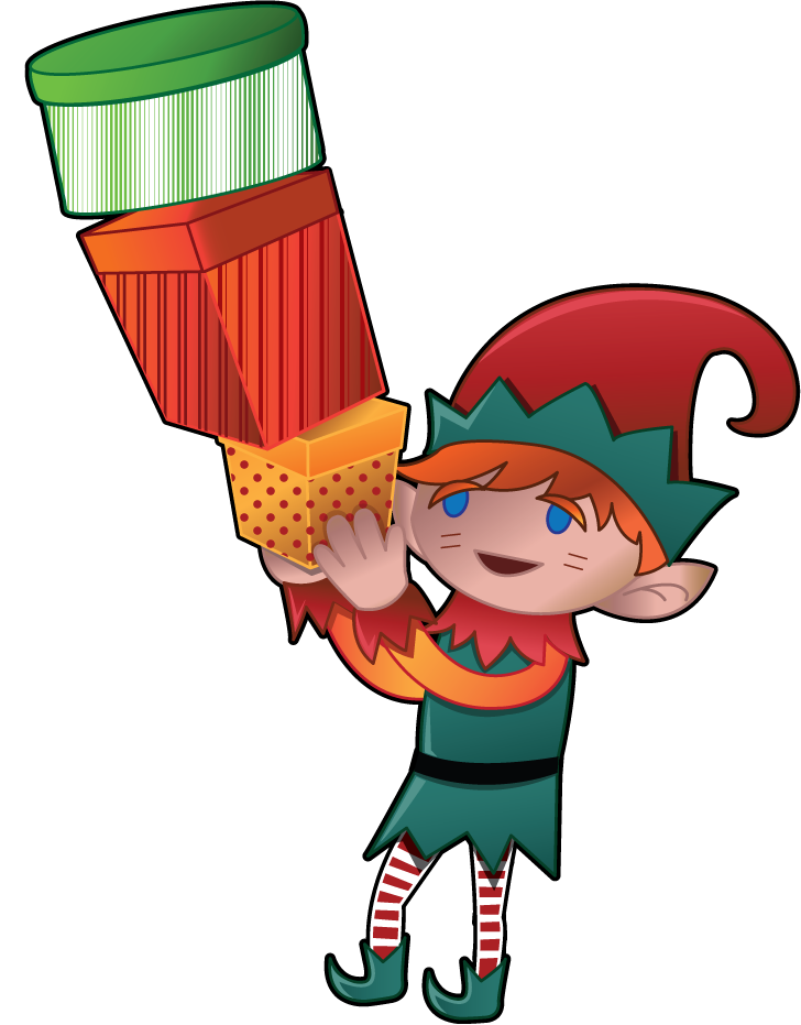 728x931 Free Clip Art Holiday Clip Art Christmas Elf With Presents