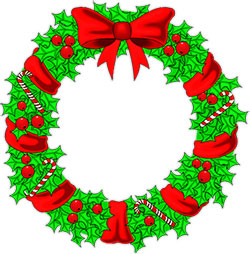 250x254 Christmas Garland Christmas Bow Clip Art Merry Christmas Amp Happy