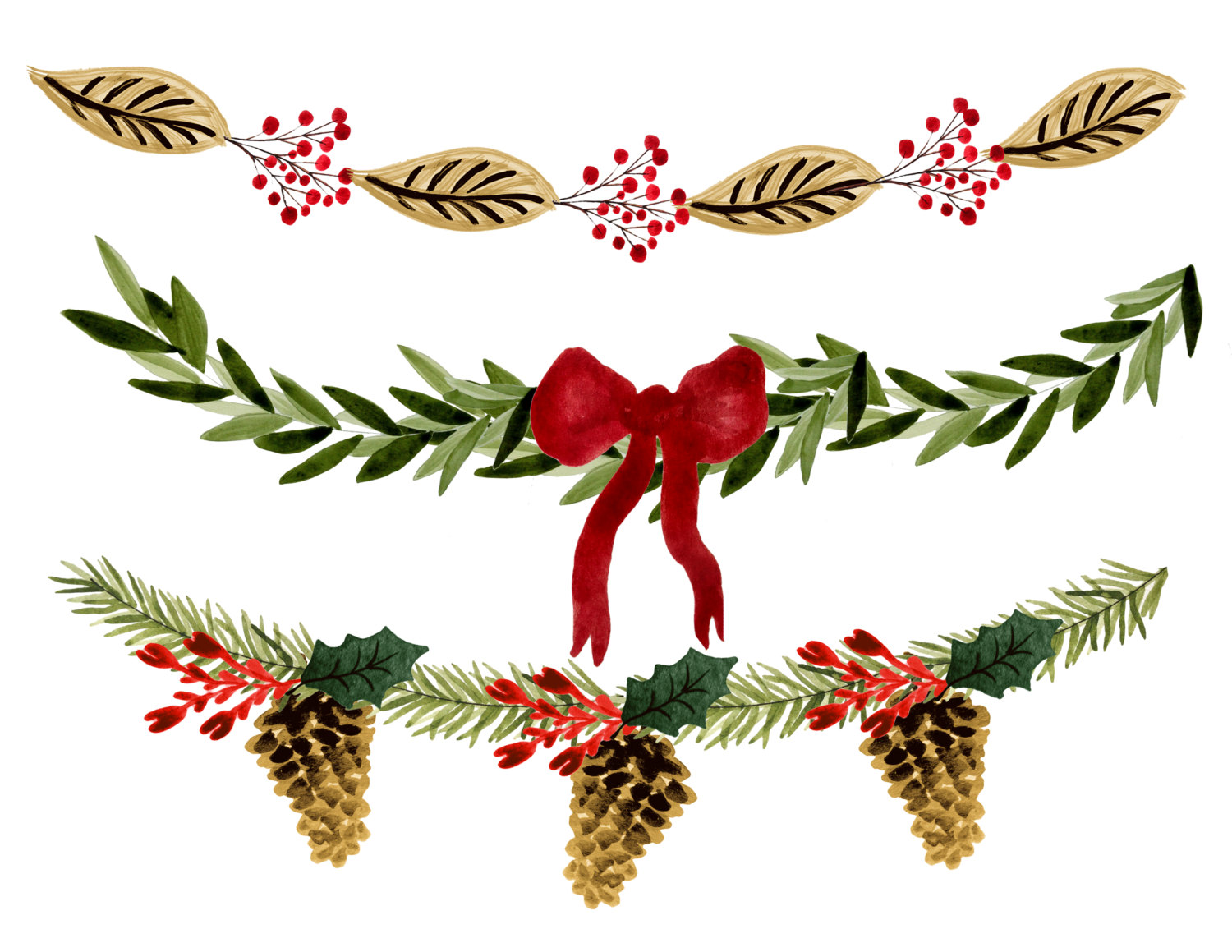 Christmas Garland Clipart.Holiday Garland Clipart Free Download Best Holiday Garland