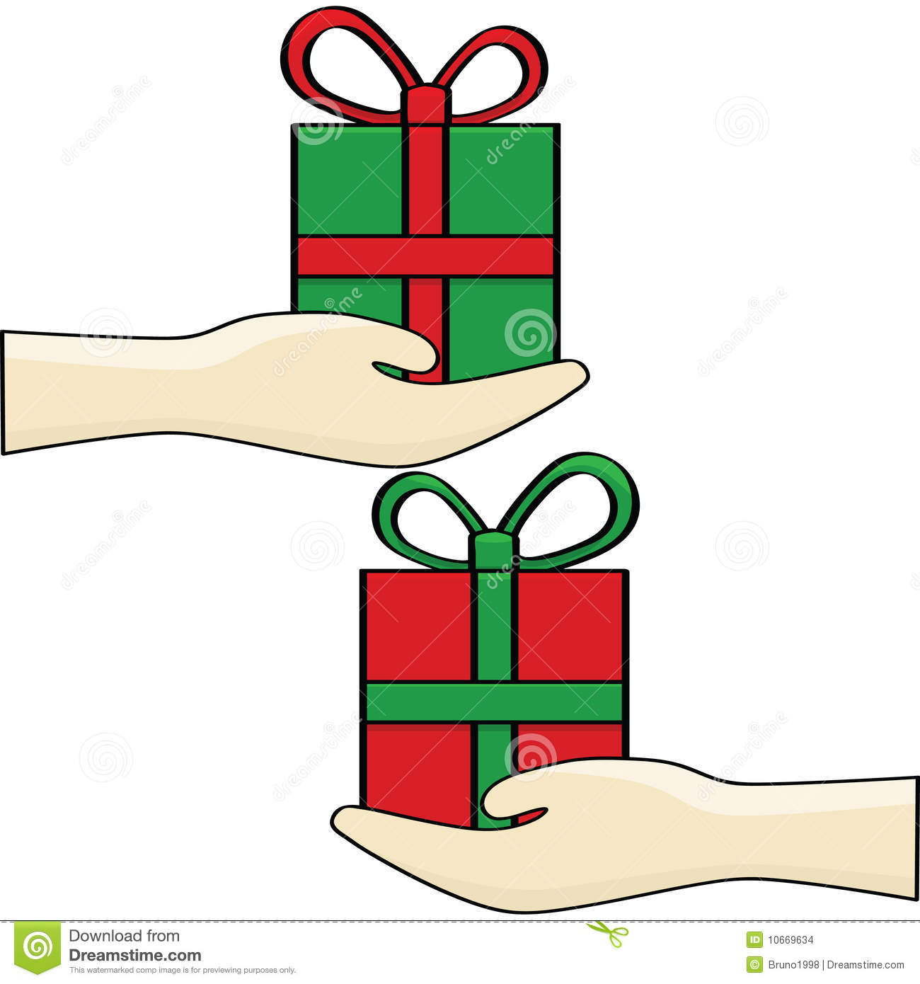 1300x1390 Holiday Gift Exchange Clip Art