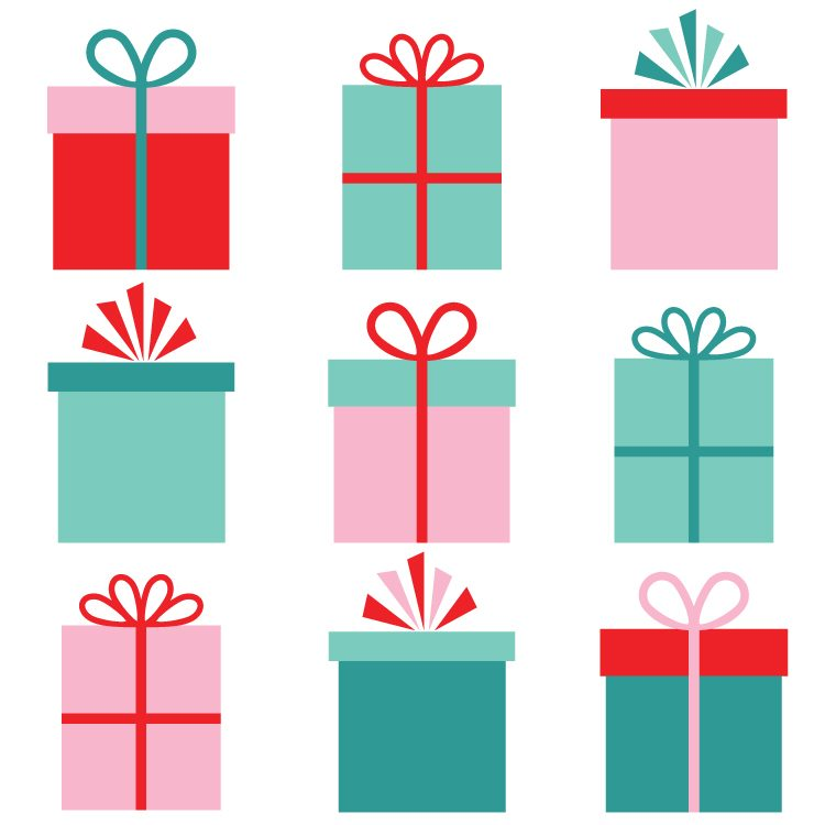 750x750 Christmas Gifts Clip Art