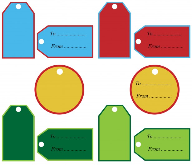 615x528 Free Gift Tag Clip Art