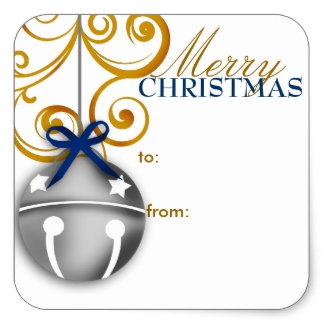 324x324 Christmas Bells Stickers Zazzle