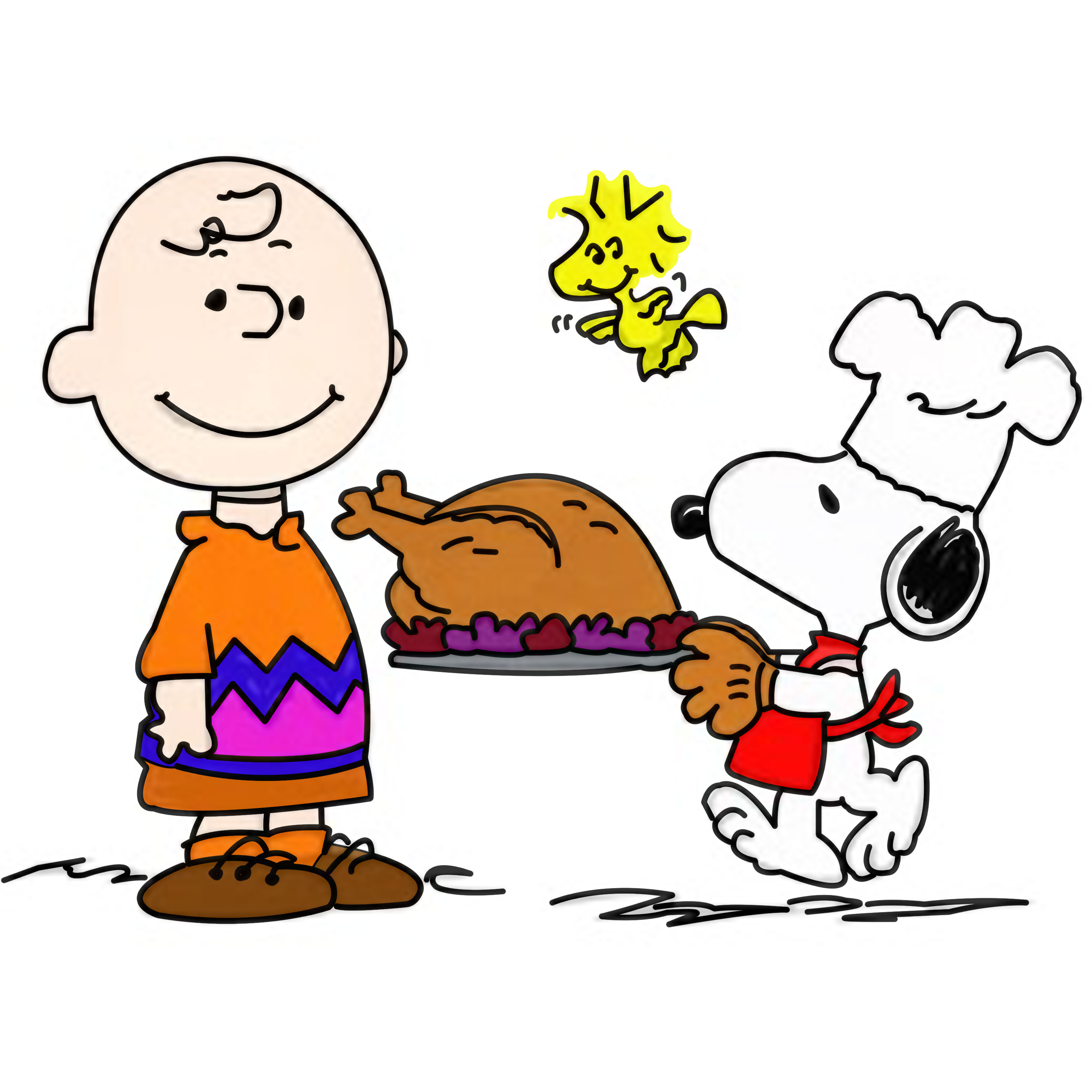3000x3000 Snoopy Thanksgiving Clip Art