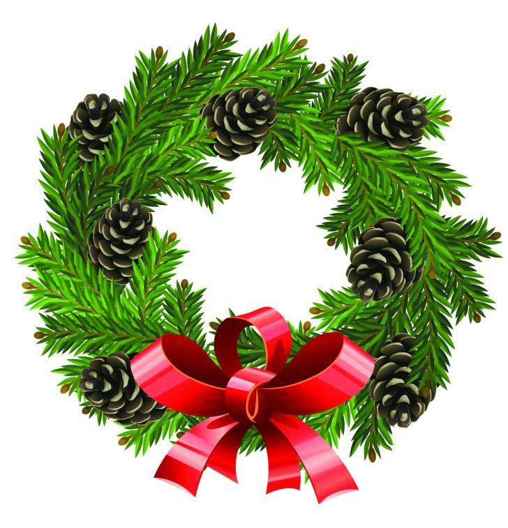 728x757 Christmas ~ Christmas Phenomenal Wreath Clip Art Undecorated