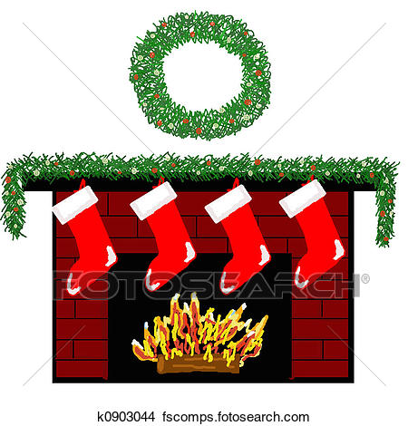 450x470 Drawings Of Holiday Fireplace K0903044
