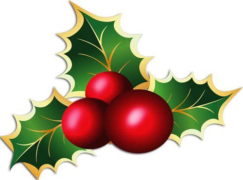 500x371 Elegant Christmas Bough Clipart
