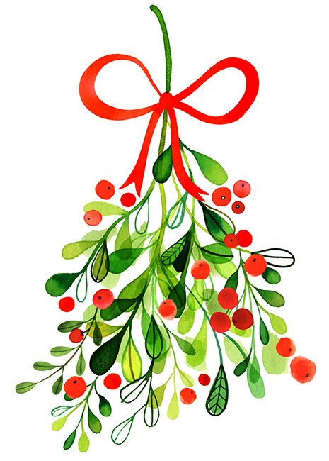 465x650 Margaret Berg Art Merry Mistletoe Transfer To Polyvore