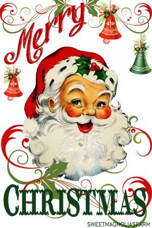 300x450 Sweet Magnolias Farm Merry Christmas Santa Clip Art Image ~ Free