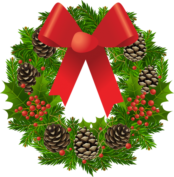 592x600 Christmas Greenery Clipart