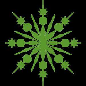 300x300 Green Snowflake Clip Art Christmas Clip Art