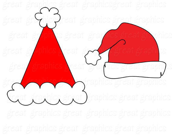 570x456 Santa Clipart Digital Clip Art Santa Hat Digital Download