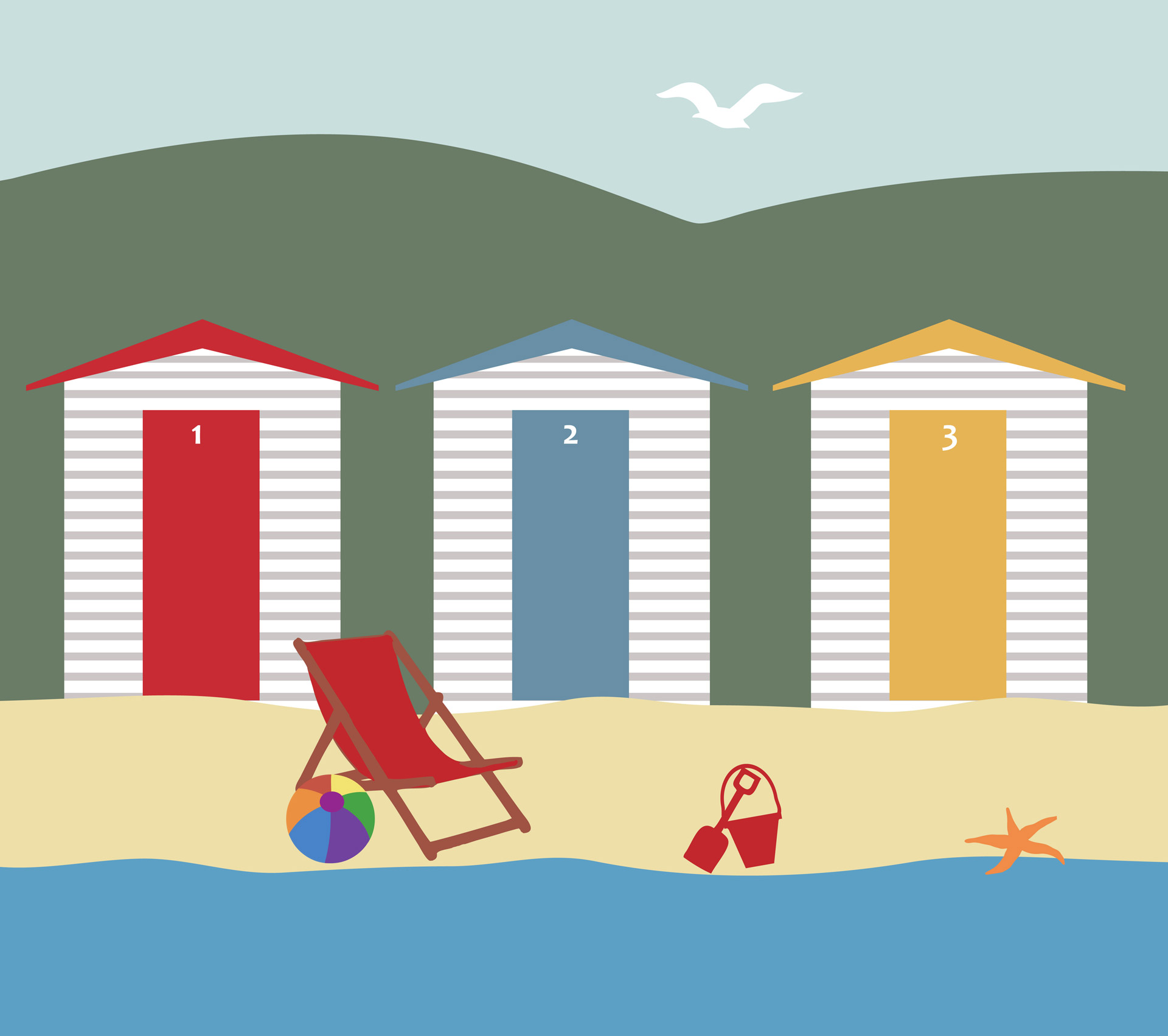 1920x1703 Holiday Clipart Seaside