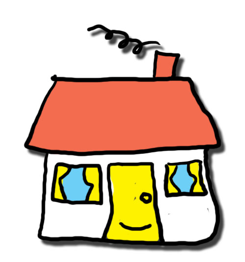 500x535 Holiday Cottage Clipart