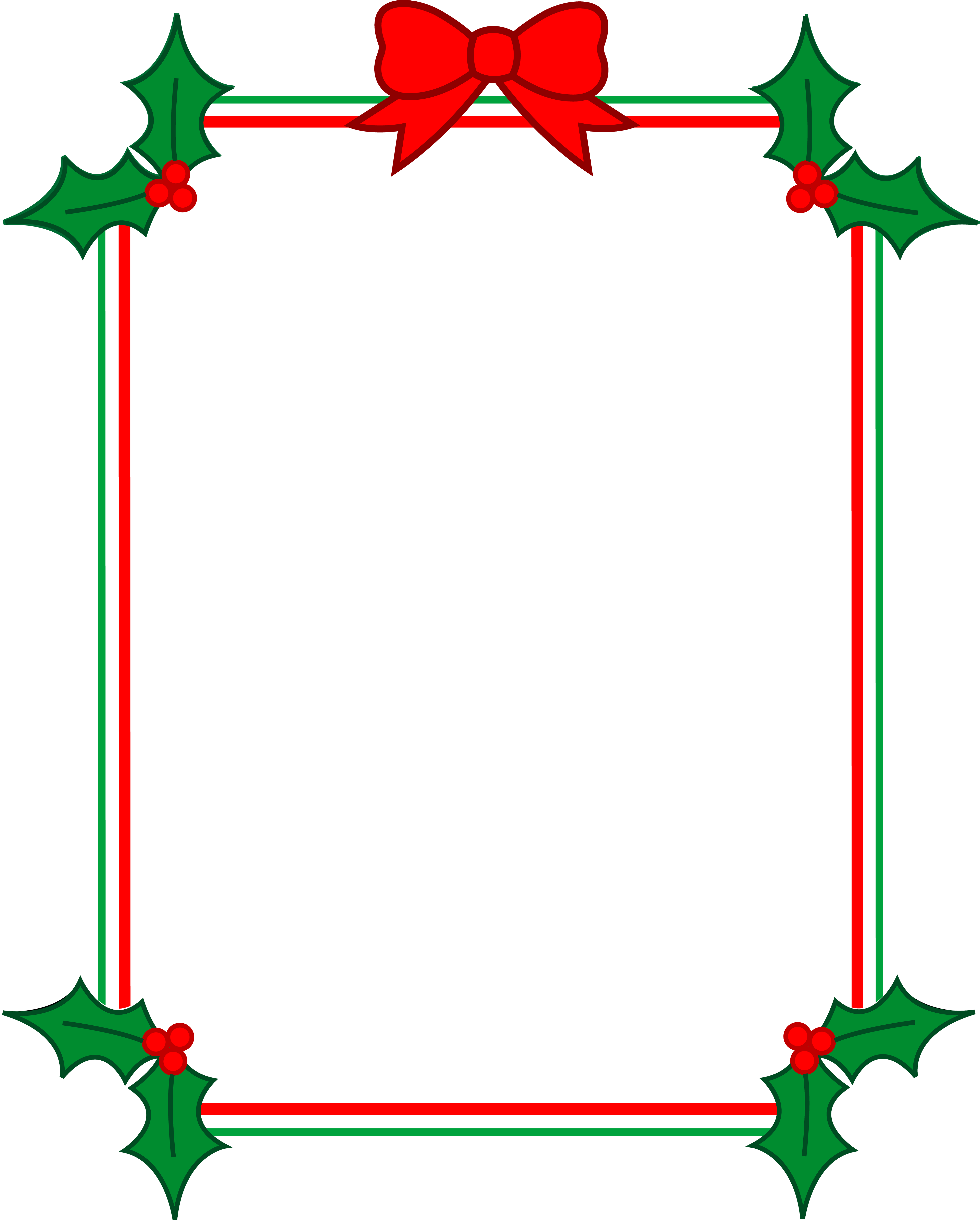 4822x6000 Free Holiday Clipart Borders