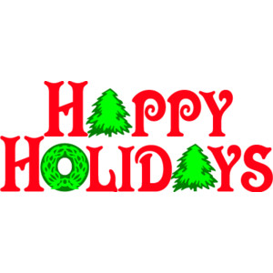 300x300 Holiday Clip Art Happy Holidays