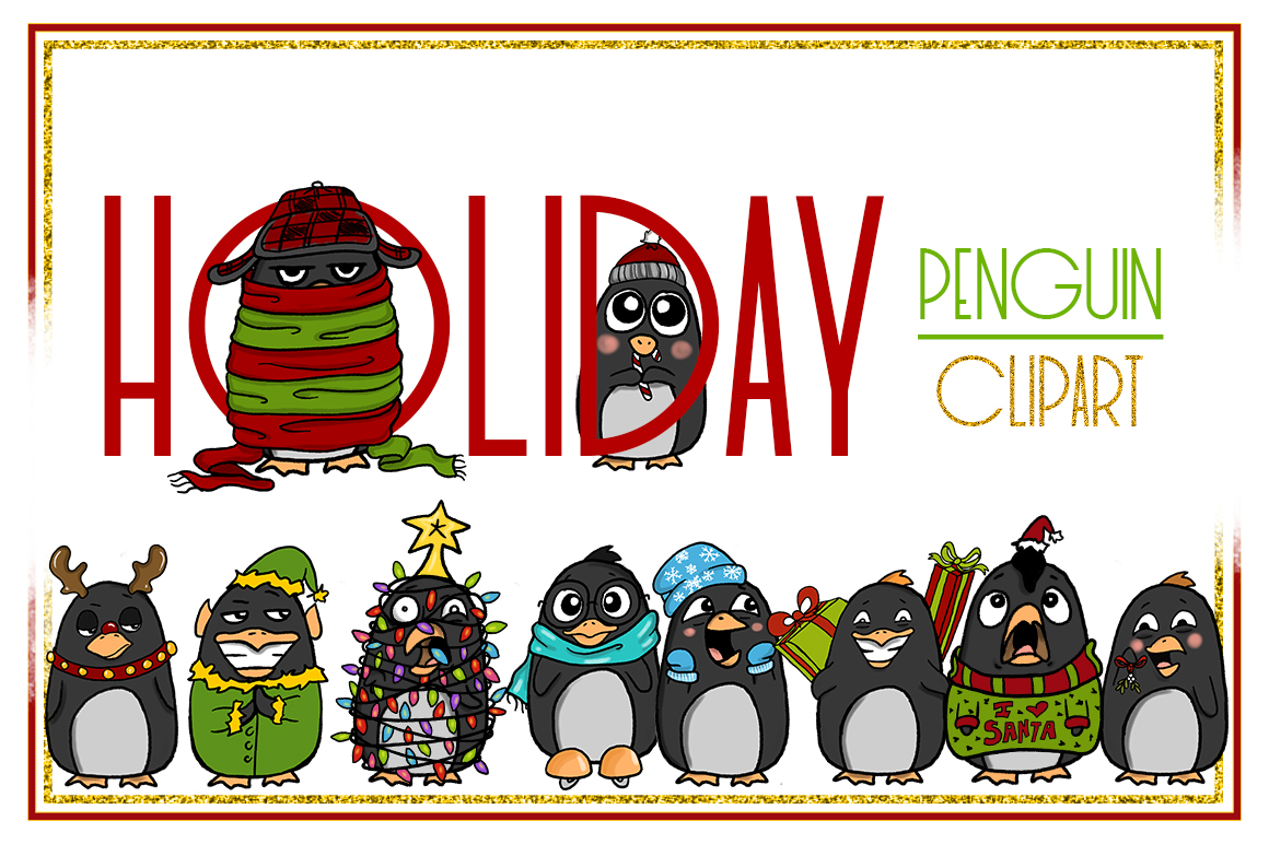 1160x772 Holiday Clipart Penguin Clipart Christm Design Bundles