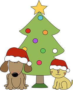 250x306 Holiday Dog Clipart