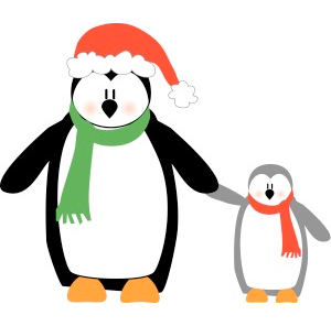 300x296 Holiday Penguin Clipart Free Clipart Images
