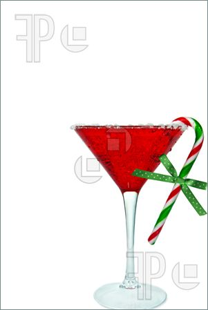 Holiday Martini Clipart