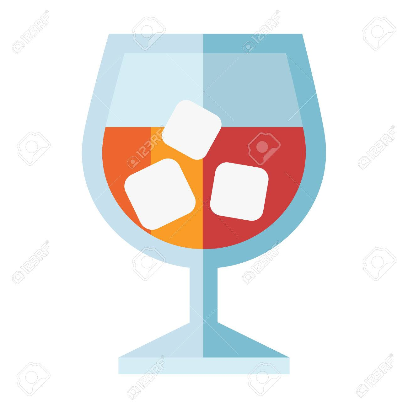 1300x1300 Refreshing Glass Cocktail, Lime And Ice. Colourful Vector