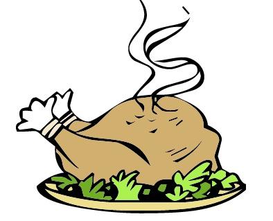 394x319 Turkey Dinner Clipart