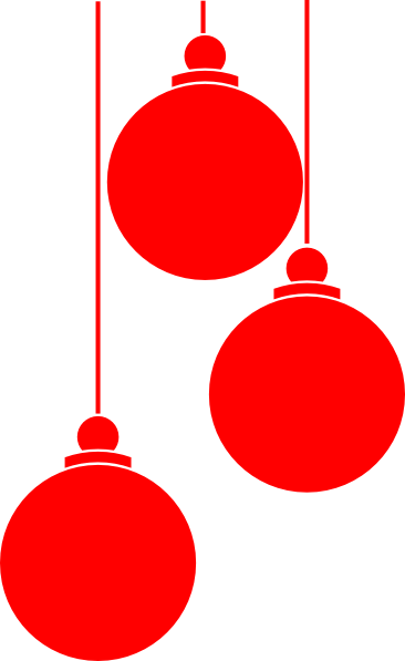 366x597 Christmas Ornaments Clip Art