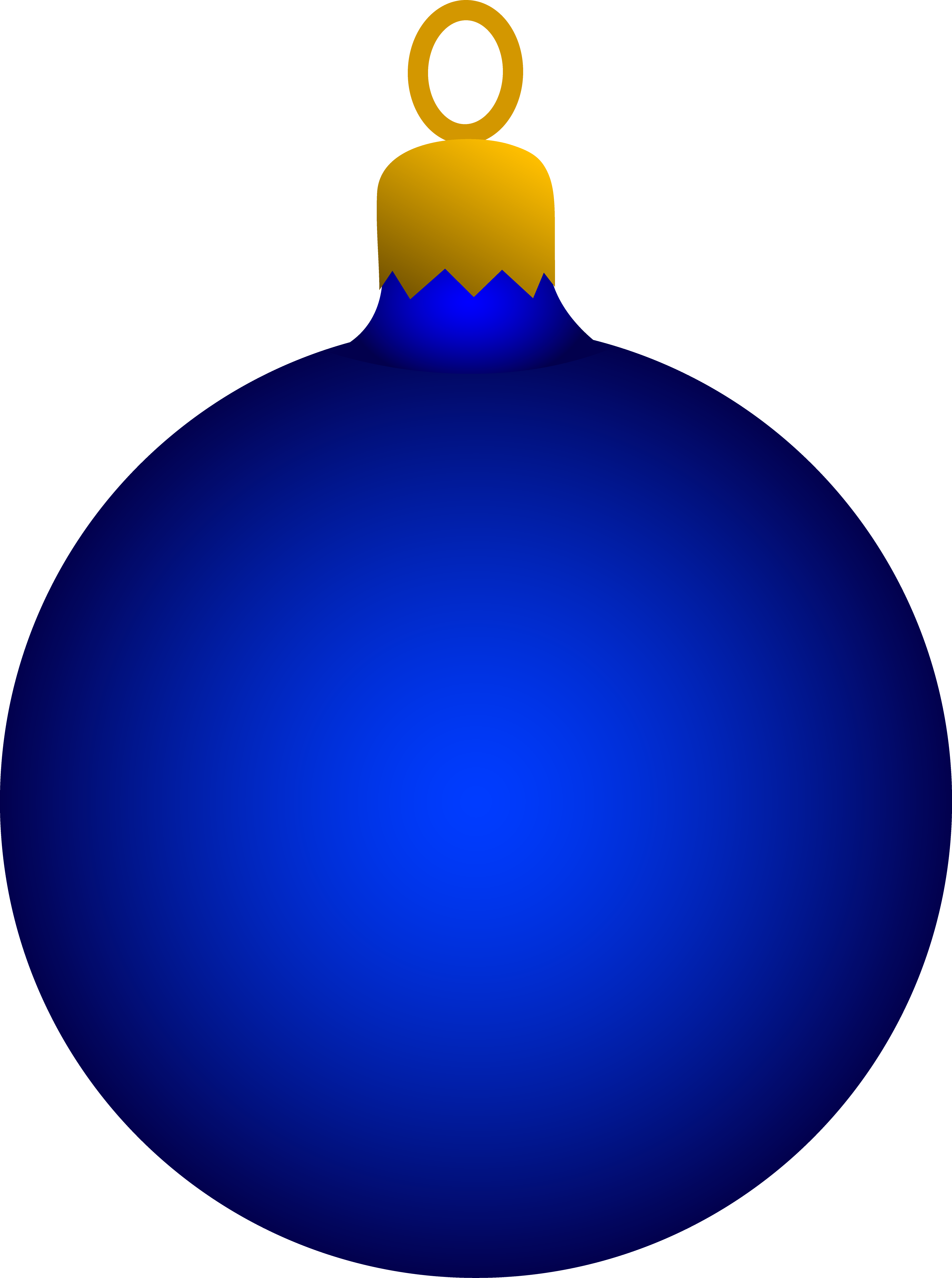 3525x4730 Blue Christmas Tree Ornament