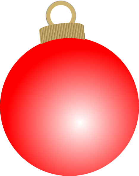468x593 Red Christmas Ball Ornament Clip Art