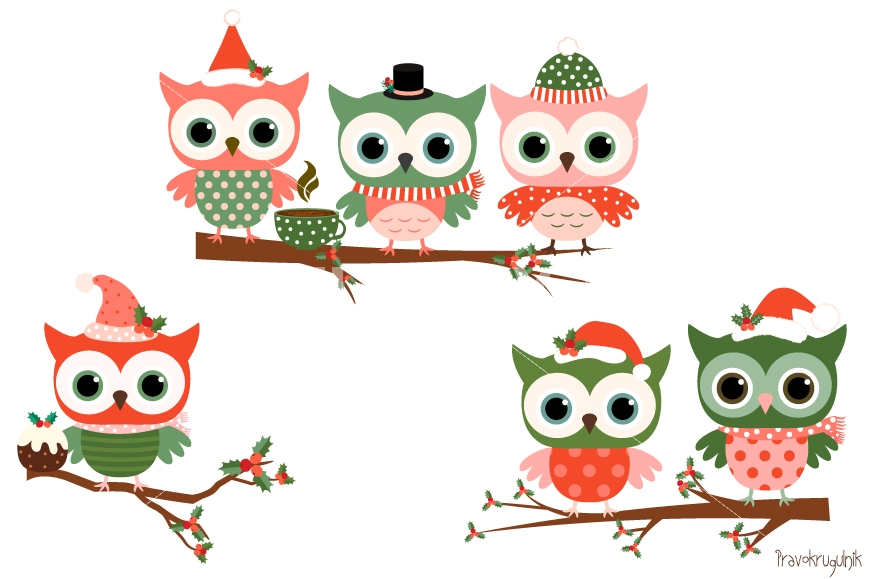 Holiday Owl Clipart | Free download on ClipArtMag