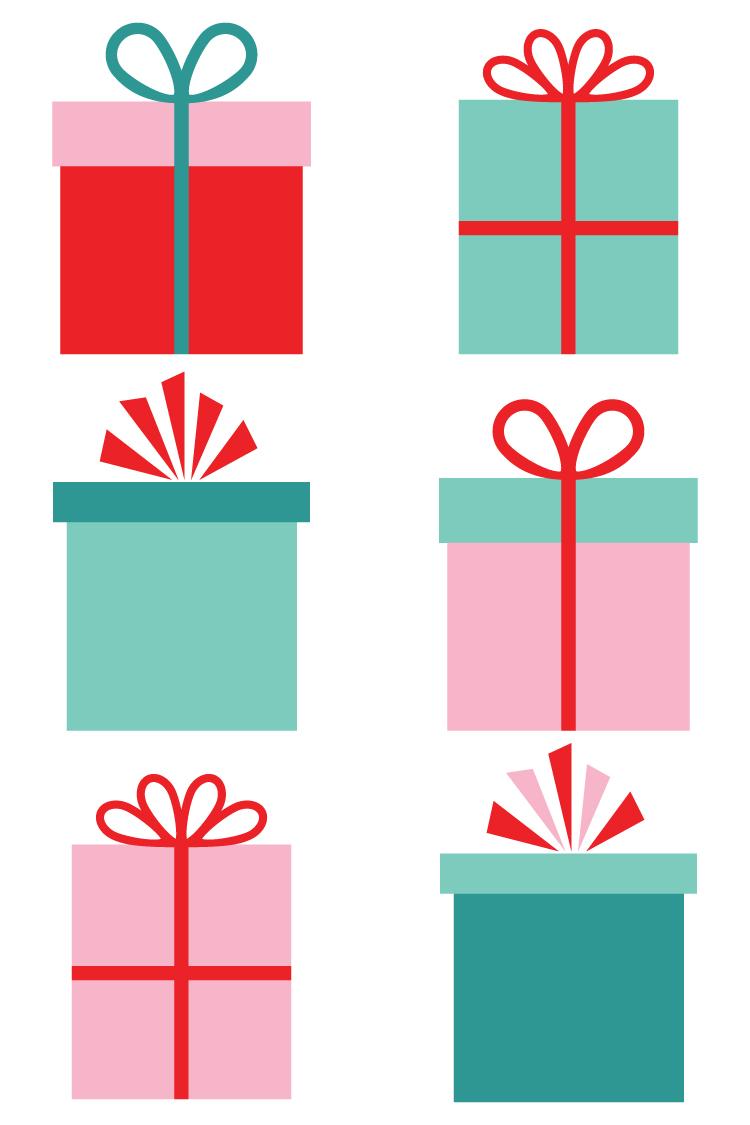 750x1125 Christmas Gifts Clip Art