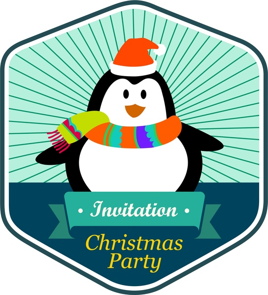 544x600 Free Christmas Party Invitation Clip Art Free Vector Download