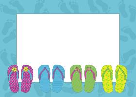 280x200 Flip Flop Invitation Template Use These Free Images For Your