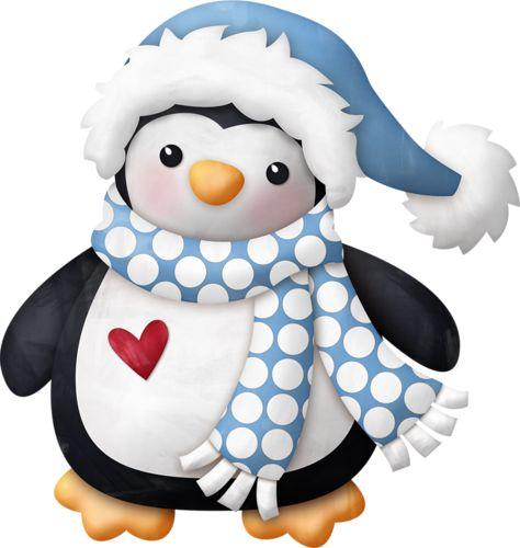 Holiday Penguin Clipart