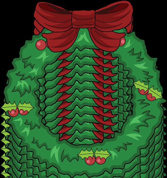 570x607 Holiday Clipart Christmas Wreath