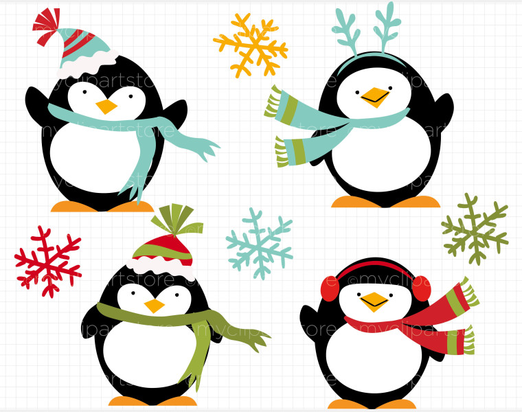 760x600 Penguin Clipart Winter Holiday